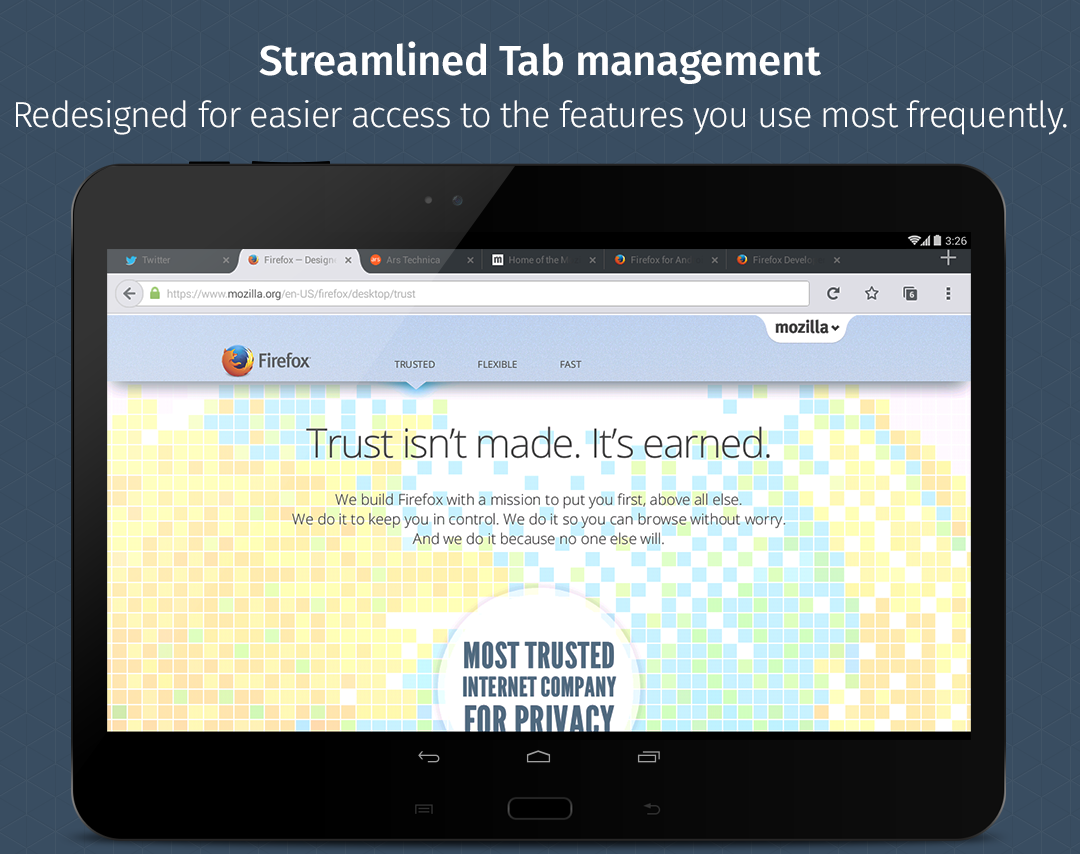 Firefox Beta — Web Browser- screenshot