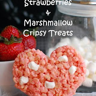 Strawberries and Marshmallow Crispy Treats