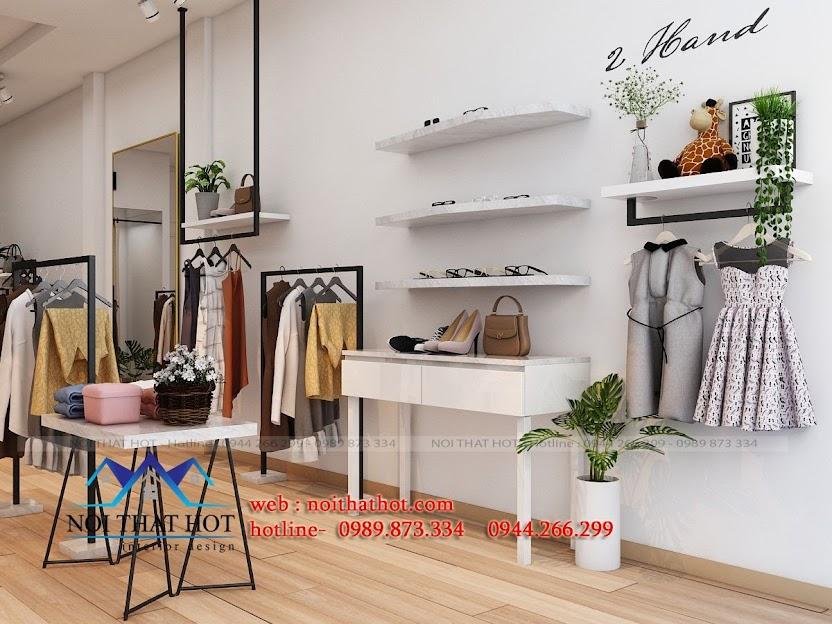 thiết kế shop thời trang nữ tươi trẻ