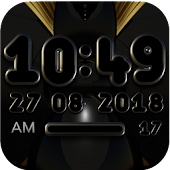 VARGO Digital Clock Widget black