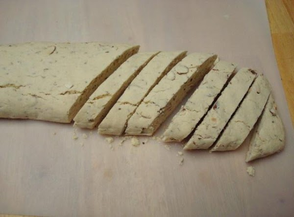 Cut each loaf diagonally into 3/4 in slices.