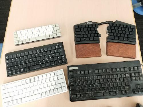 さまざまなキーボードたち