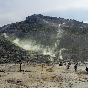 硫黄山に行ってきました(^O^)/