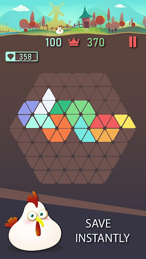 Trigon : Triangle Block Puzzle Game 1.8.3 gameplay | by HackJr.Pw 5