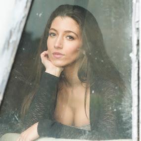 Contemplation by ETImagez Photography - People Portraits of Women ( editorial, window, gorgeous, brunette, beauty, portrait )