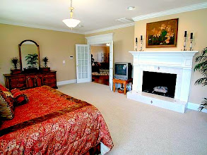 Photo: Bedroom #5: Huge Master Suite 22' x 18' with a natural gas or wood burning fireplace