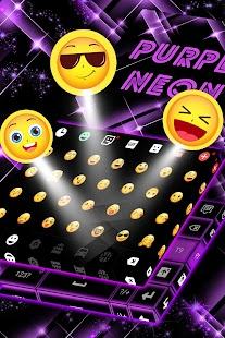 Purple Neon Klávesnice Téma - náhled