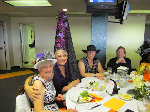 Photo: Members of the Mahnah Club attend the the Wine Women and Horses event