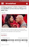 screenshot of WrestleFeed - Live Wrestling News & Updates