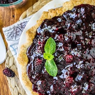 Fresh Blackberry Glacé Pie