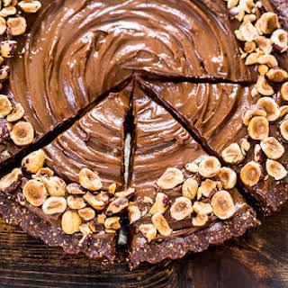 Vegan Chocolate Hazelnut Tart.