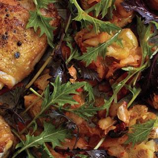 Roast Chicken and Kimchi Smashed Potatoes Recipe