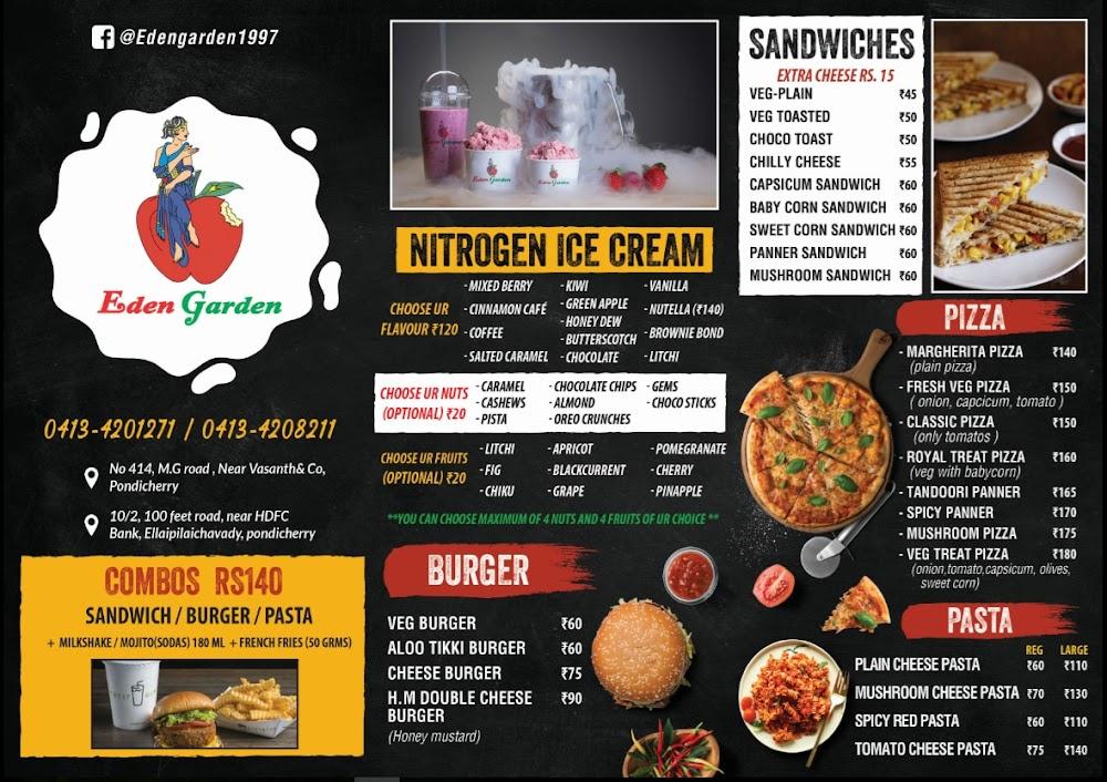 Eden Garden menu 1