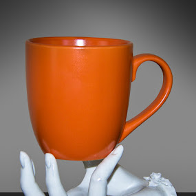Cup In Hand by Wil Domke - Artistic Objects Cups, Plates & Utensils ( cup, hand, porcelain, art, coffee, ceramic, pwccups )