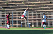 Sipho-Sihle Mtule of EC Bees celebrate after scoring a goal during the Nedbank Cup Last 32 match against Mariveni United at Old Peter Mokaba Stadium on February 11, 2018 in Polokwane, South Africa.