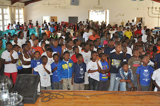 Photo: Kids who came forward to receive Christ