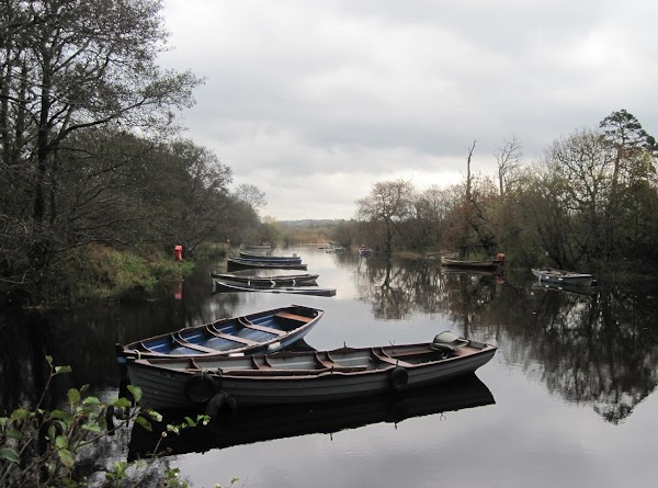 Boats on the river near Ross Castle