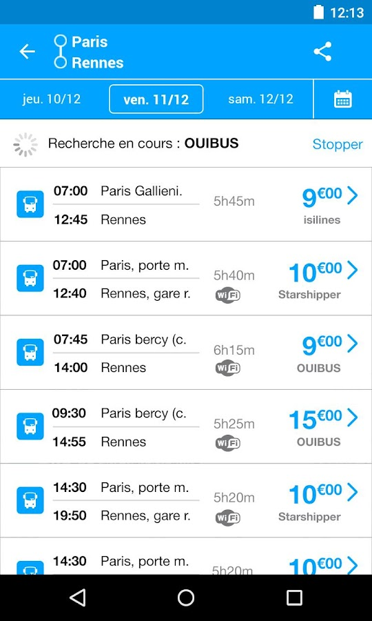 kelbus, billet de bus pas cher- screenshot