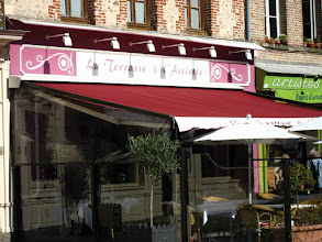 Photo: La Terrasse et l'assiette, un excellent restaurant à Honfleur en 2007.