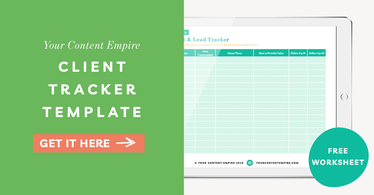 Freebie | Client Tracker Template