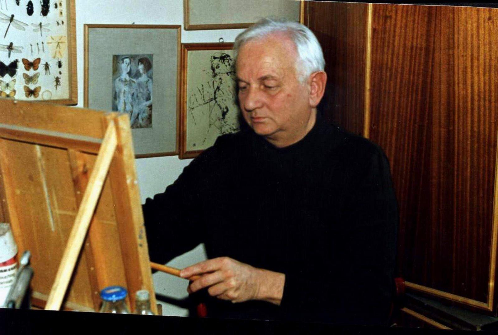 Photo: Milan Alexadru FLORIAN (1937-2004) kolozsvári műhelyében 1