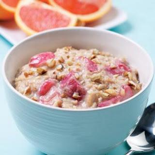 Oatmeal-Rhubarb Porridge
