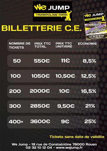 billetterie trampoline