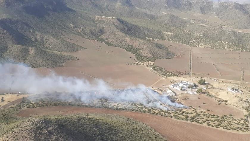 Imagen del incendio compartida por el Plan Infoca en su cuenta de Twitter.