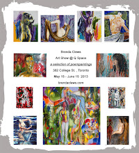 Photo: Invitation for Art Show, 'a selection of poempaintings' @ Q Space, 382 College St., Toronto, May 15 - June 15, 2013