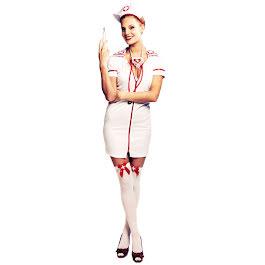 sexiga strumpbyxor sjuksköterska dräkt