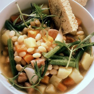 Bacon, Herb, and White Bean Broth