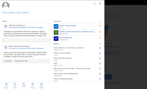 Dynamics 365 for Tablets 4.3.19043.33 screenshots 1