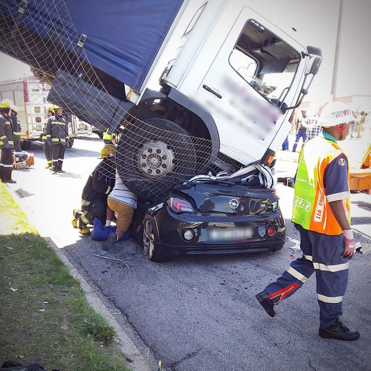 The accident happened at about 2.50pm on Tuesday, in Diaz Road, Millard Grange, Port Elizabeth.