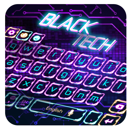 Black Tech Keyboard Theme