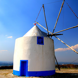 Old windmill by Gil Reis - Buildings & Architecture Public & Historical ( sky, places, clouds, travel, colors )