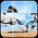 Pureblood horse jigsaw icon