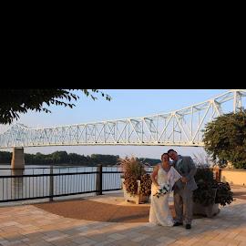 Picture time  by Anita Crisp - Wedding Bride & Groom ( river )