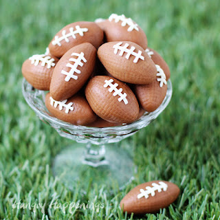 Chocolate Caramel Fudge Footballs Recipe