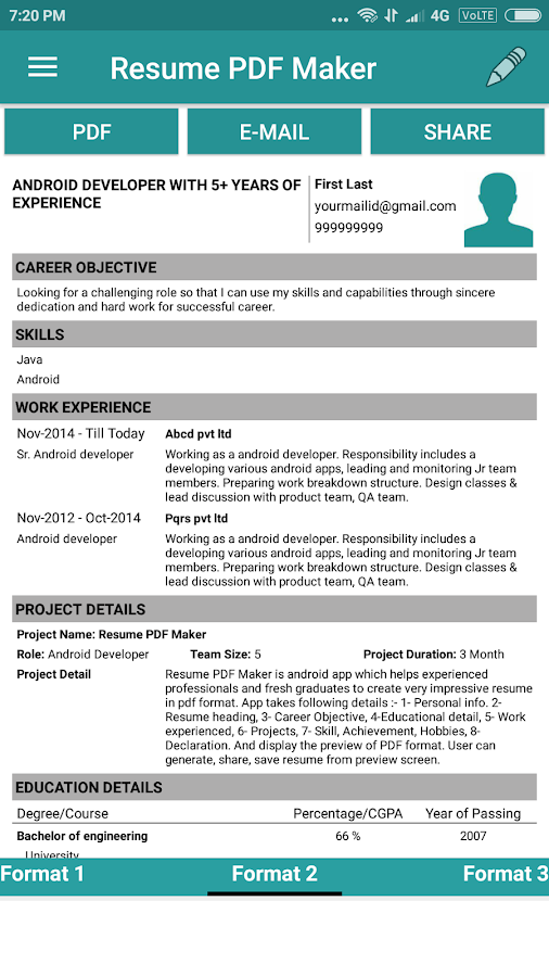 Resume PDF MakerCV BuilderAndroid Apps on Google Play
