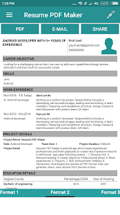 resume pdf maker cv builder apps on google play