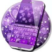Purple Bokeh Hearts Theme
