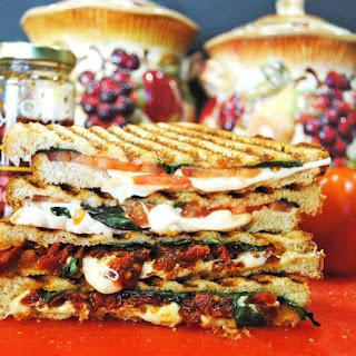 Grilled Smoked Mozzarella, Tomato, and Basil Sandwich Recipe
