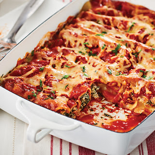 Easy Spinach-Ricotta Cannelloni.