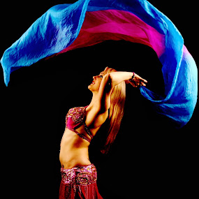 Flying colors by Vineet Johri - People Musicians & Entertainers ( flying, color, graceful, belly, dancer )
