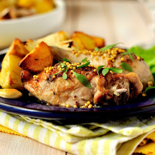 Chile Jam Chicken With Caramelized Sweet Potatoes and Peaches