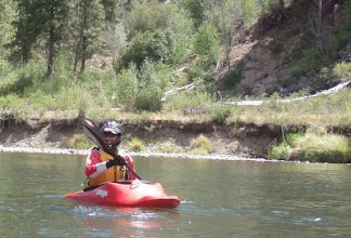 Photo: Don on the Truckee River.