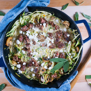 Creamy Skillet Zoodles Recipe