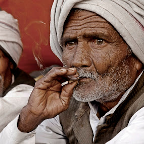 Old Man by Suman Rakshit - People Portraits of Men