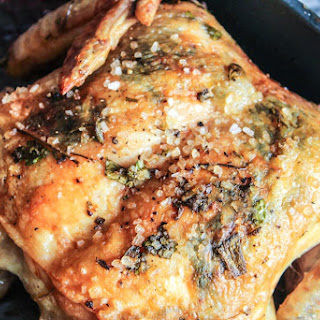 Roasted Chicken with Fresh Herb Compound Butter