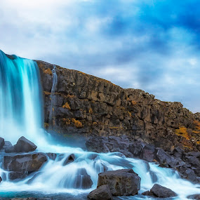 Icelandic waterfall by André Figueiredo - Landscapes Waterscapes ( #landscape, #waterfall, #iceland, #nature,  )